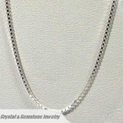 Sterling Silver 2mm Box Necklace