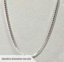 Sterling Silver Box Necklace