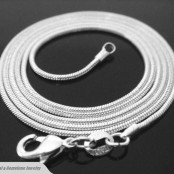 Sterling Silver 2mm Snake Necklace