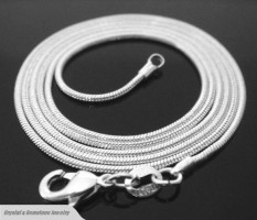 Solid Sterling Silver 2mm Snake Chain