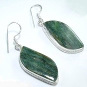Aventurine Silver Earrings