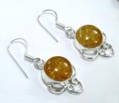 Honey Baltic Amber Silver Earrings