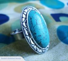 Tibetan Silver Turquoise Ring