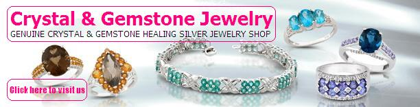 Crystal & Gemstone Silver Jewelry - Genuine Crystal & Gemstone Healing Silver Jewelry Online Store