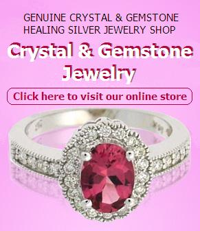 Crystal & Gemstone Jewelry - Genuine Crystal & Gemstone Healing Silver Jewelry Online Shop
