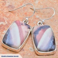 Rhyolite Silver Earrings
