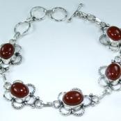 Carnelian Silver Bracelet