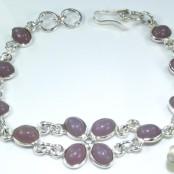 Chalcedony Silver Bracelet
