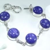 Charoite Silver Bracelet