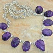 Charoite Silver Necklace