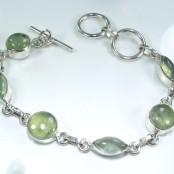 Prehnite Silver Bracelet
