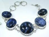Blue Sodalite Silver Bracelet