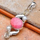 Rhodochrosite, Citrine & Pearl Silver Pendant
