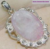 Rainbow Moonstone Silver Pendant